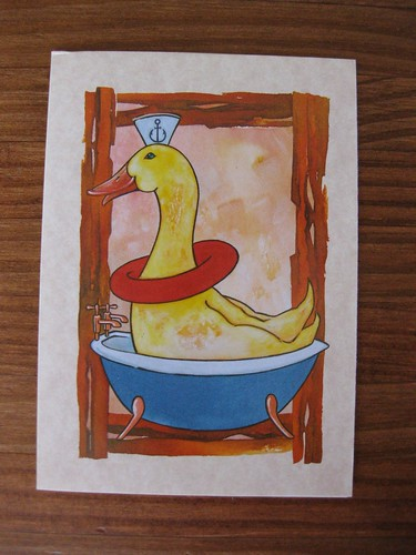 Duck in tub card