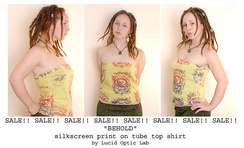 Behold screen print tube top