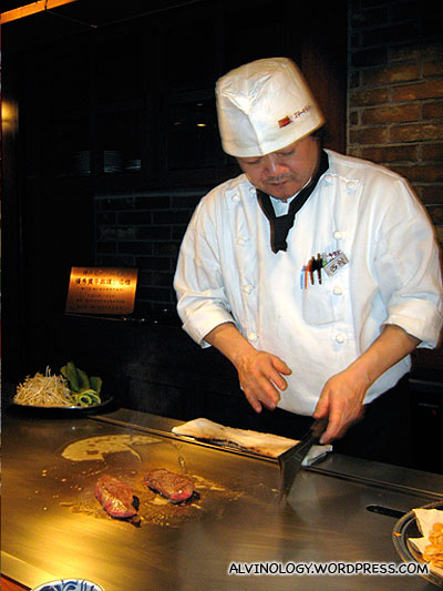 The chef who prepared Marks Kobe beef
