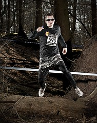 Merrell Iceman 3 (Photosmudger) Tags: lighting sport flash running location crosscountry iceman setup fitness merrell strobe flashgun pocketwizard strobist