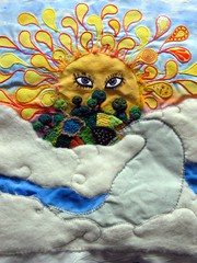 Small World WIP (cymberrain) Tags: pink blue trees orange sun moon color green art sol nature yellow clouds sunrise stars gold soleil beads rainbow eyes colorful needlework felting embroidery sewing or workinprogress tapis wip planet brightcolors needlefelting fiberart nuage paisley applique couture embellished couleur smallworld handstitched dyed celestial celeste creations wallhanging originaldesign handdyed fiberarts vividgreen broderie saturatedcolor artsplastiques needlefelted fancywork originalcreation brightcolored smallplanet patchworkfields paintingonfabric couleursvives handsitched fancyneedlework loisirscreatifs stitchbyhand teintureartisinale