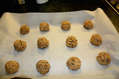 PB Oatmeal Chunk - going in the Oven