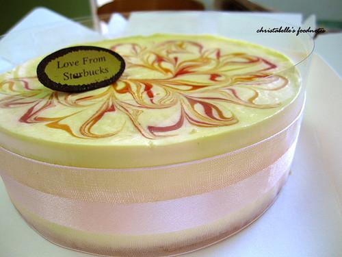 星巴克芒果乳酪蛋糕緞帶