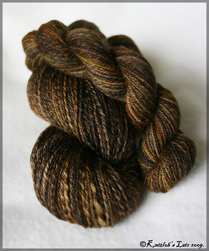 calico merino-alpaca sock yarn