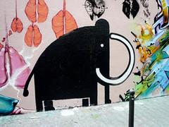 StreetArt, Paris, France (balavenise) Tags: streetart paris france art animal wall publicspace graffiti mural artist tag urbanart instant mur ephemeral mammouth arteurbano shortlived artdelarue arturbain ephemere bte phmre artedecalle artsauvage efemero flickrgiants