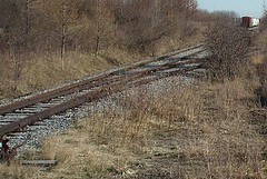 I've Been Singing On The Railroad... Nostalgia (PilgrimElaine) Tags: railroad newyork abandoned train woods tracks brush april depot fingerlakes cayugalake 2009 senecalake whitedeer senecaarmydepot heartoffingerlakes