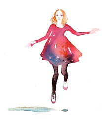 (aer Lu) Tags: art girl fashion lady illustration ink watercolor sketch paint drawing illustrations beatiful alternative