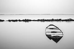 (nicola tramarin) Tags: longexposure sea bw italy boat barca italia mare delta blackdiamond adriatico veneto rovigo lungaesposizione deltadelpo blackwhitephotos saccadiscardovari scardovari polesine nicolatramarin