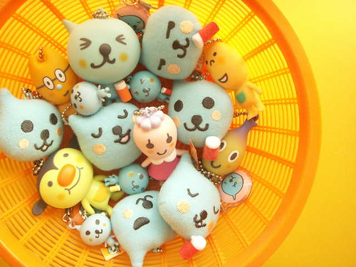 Kawaii Qoo Ball Chain Mascot Dolls Figure Cell Phone Charms Strap Craft Stuff DIY Cute Japan by Kawaii Japan.