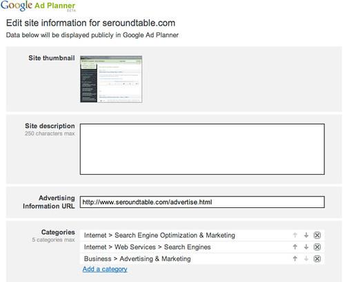 Google Ad Planner Publisher Center 4