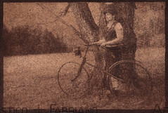 Girl with a Bike (isvibilsky) Tags: bike alt nj altprocess alternativeprintingprocess gumoil