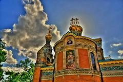 mathildenhhe, darmstadt, hdr (marcusvdk) Tags: church clouds nikon colorful kirche wolken darmstadt hdr mathildenhhe russianchurch russischekapelle d700