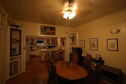 Inside Blue Moon Hostel, Lafayette.