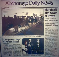 Anchorage Daily News story from August 26, 1985