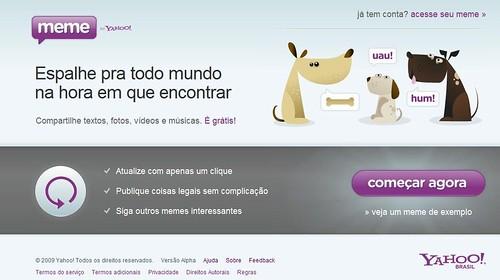 Começar agora - Yahoo! Meme