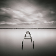 Broken Jetty at Lough Neagh (Chris McKeown) Tags: ireland mono squareformat northernireland duotone ulster waterscape loughneagh countyarmagh yourwonderland