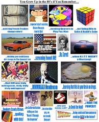 You Grew Up in the 80's If.. (notenoughbricks) Tags: gijoe pacman 80s dukesofhazzard knightrider jem webster heman backtothefuture maxheadroom generallee rubikscube bonkers kitt ghostbuster inspectorgadget
