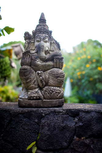 Ganesh on rock wall