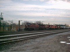 Westbound Canadian Pacific freight train. Franklin Park Illinois. Early March 2007.