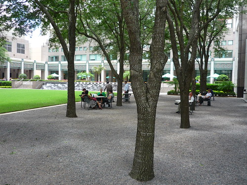 Seating area downtown