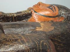Stockton Mummy, Face (meechmunchie) Tags: egyptian mummy stockton mummification ancientegyptian hagginmuseum haggenmuseum iretnethorirw