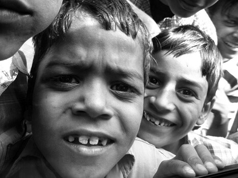 BLACK AND WHITE PHOTOGRAPHY KIDS IN INDIA