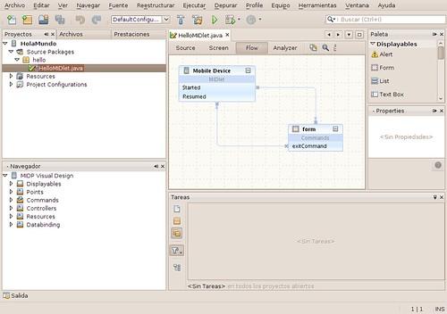 Pantallazo-NetBeans IDE 6.8