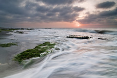 Coquina Rocks (Jesse Bissette) Tags: ocean sea seascape beach rock landscape landscapes nc nikon rocks waves seascapes fort north northcarolina tokina fisher carolina fortfisher 1224 coquina gnd graduatedneutraldensity d300s