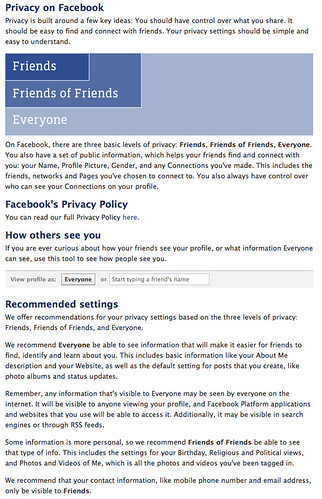 Facebook's privacy guide