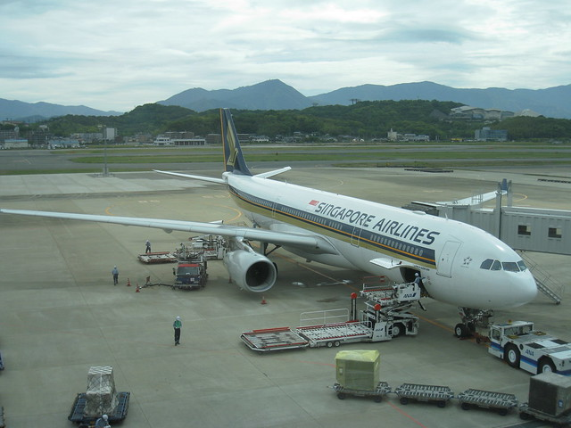 Our plane to Singapore. A330-300