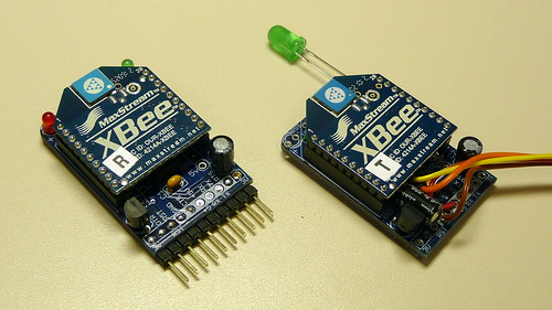 Completed XBee Receiver and Transmitter