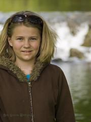 Near the Dam (whatUthinkin) Tags: water girl k reflections bristol dof child photoshoot bokeh may indiana olympus elkhart goshen e410 olympuse410 dalebarlowphotography bonnievillemills