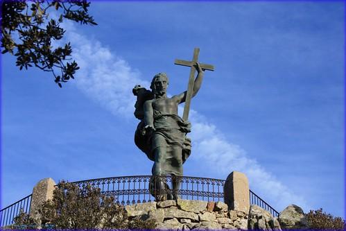 Statua del redentore sul Monte Ortobene