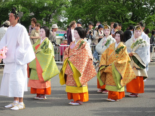 Aoi matsuri festival in Kyoto, Japan; 葵祭、京都