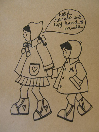 Hold Hands And Buy Handmade - Printed Paper Bags
