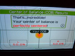 Wii Fit -- I have perfect balance!