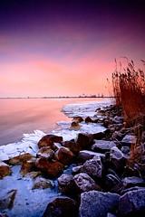 Icy Ijmeer Sunrise (KennethVerburg.nl) Tags: winter lake ice landscape frozen meer bevroren nederland polder flevoland januari landschap almere zonsopgang ijs ijmeer hummocks canoneos5d kruiendijs
