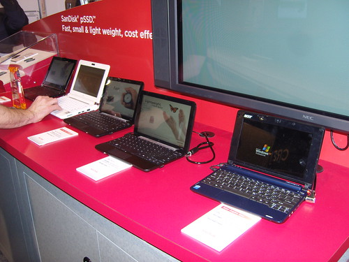Netbooks that use SanDisk pSSD, CES 2009