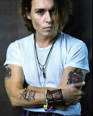 johnny depp tattoos. Johnny Depp Tattoos
