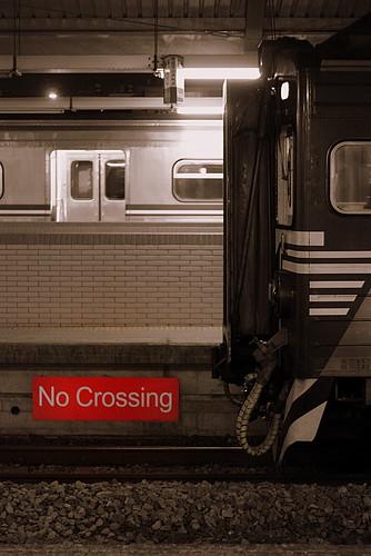 no crossing
