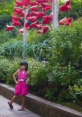 Sentosa Flowers 2009 (GenkiGenki) Tags: pink red people plant green canon pose eos leaf kid singapore colorful stranger sentosa 2009 ef 24105mm 24105l ef24105mmf4lisusm sentosaflowers 5dmarkii 5d2 5dmark2