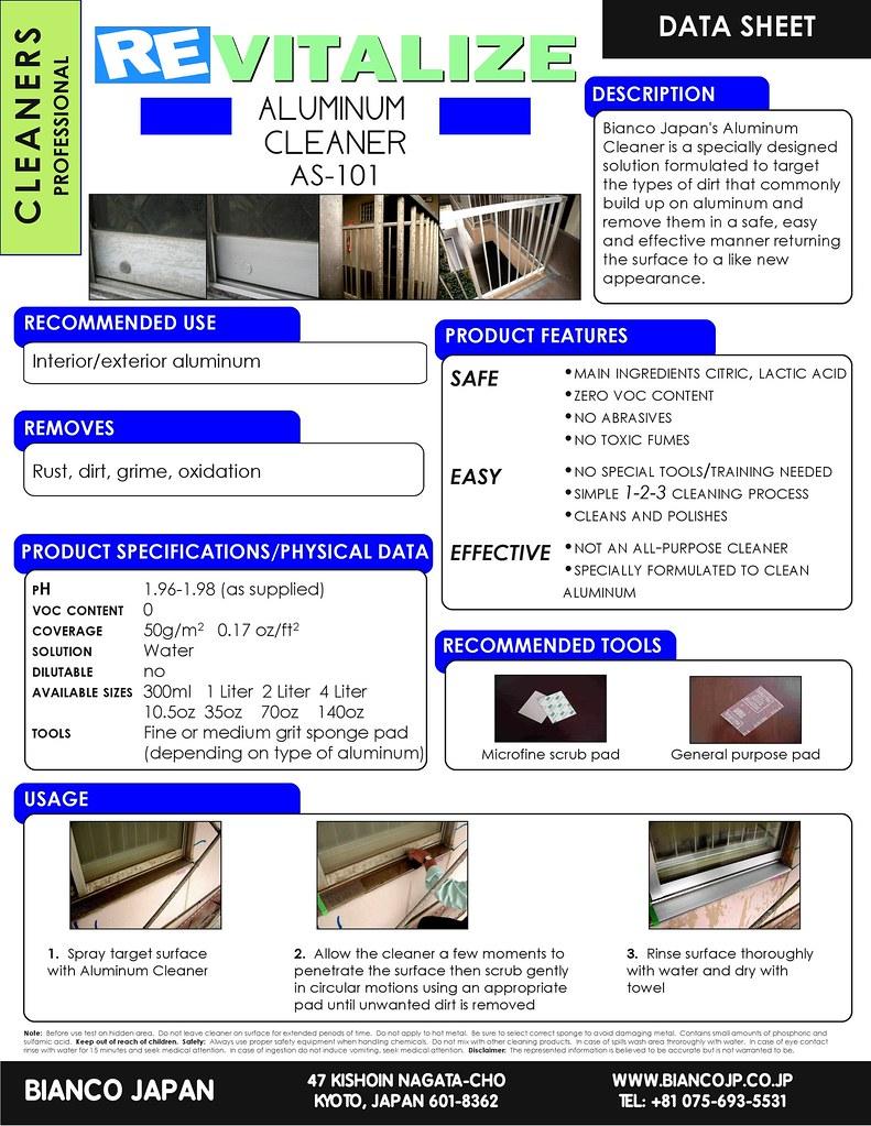 Bianco Japan Aluminum Cleaner