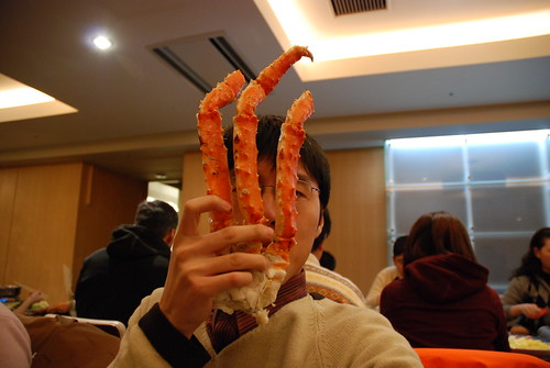 比臉還長的帝王蟹