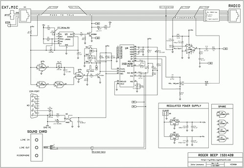 Rogerbeep ISD1420 Schematic