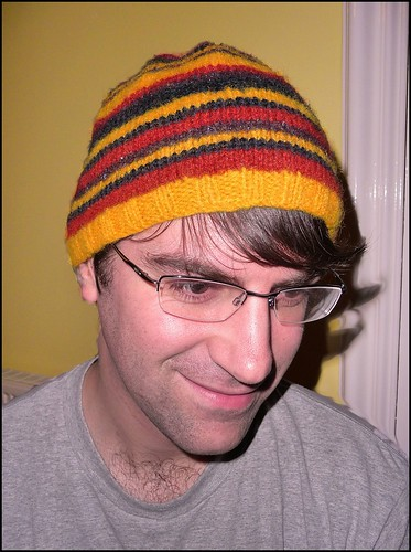 dave's stripy hat