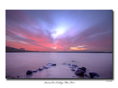 Sunrise Over Embsay Moor Tarn (SteveMG) Tags: longexposure sky sunrise landscape yorkshire smg tarn picturesque yorkshiredales potofgold 10mm embsay