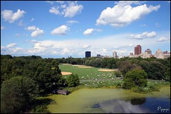 Central Park NYC (pippipi) Tags: city nyc sky panorama parco usa sun newyork verde green america landscape nuvole state wind centralpark cielo empire vento