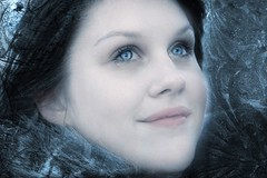 IceQueen (Linda Cronin) Tags: blue portrait cold girl beautiful eyes blueeyes icy icequeen mywinners platinumphoto anawesomeshot 15challengeswinner motifdchallengewinner elitephotography friendlychallenges azofdigitalediting qualitypixels goldenheartaward jediphotographer dragondaggeraward