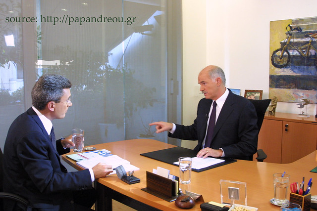 George Papandreou gives interview to Nikos Hatzinikolaou