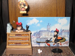 Kiki's Delivery Service (eyes0nme19) Tags: music anime studio bread flying box bakery delivery series service ghibli kiki figurine figures jiji kikis